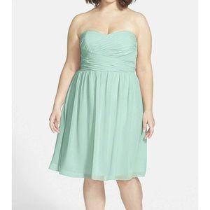 Sarah style Chiffon plus size dress